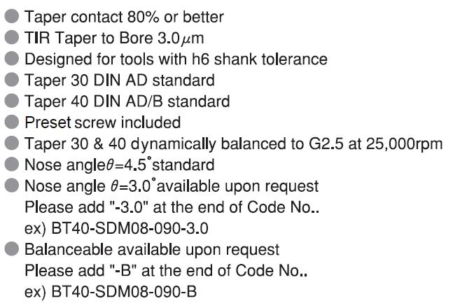 Shrink fit holder BT30 / BT40